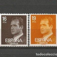 Sellos: ESPAÑA. Nº 2558/59(*). AÑO 1980. JUAN CARLOS I. NUEVO SIN GOMA.. Lote 296964463