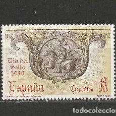 Sellos: ESPAÑA. Nº 2575(*). AÑO 1980. DÍA DEL SELLO. NUEVO SIN GOMA.. Lote 296999923