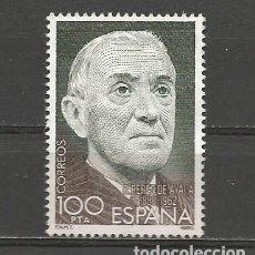 Sellos: ESPAÑA. Nº 2578(*). AÑO 1980. CENT. RAMÓN PÉREZ DE AYALA. NUEVO SIN GOMA.. Lote 297013528