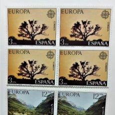 Sellos: SELLOS ESPAÑA AÑO 1977 SERIE EUROPA/CEPT COMPLETA (2413 A 2414)- NUEVOS - EN BLOQUE DE 4. Lote 297014803