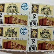 Sellos: SELLOS ESPAÑA AÑO 1979 SERIE PHILASERDICA 79 - COMPLETA (2524)- NUEVOS - EN BLOQUE DE 4. Lote 297031258
