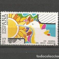 Sellos: ESPAÑA. Nº 2793(*). AÑO 1985. DÍA DEL MEDIO AMBIENTE. NUEVO SIN GOMA.. Lote 297033198