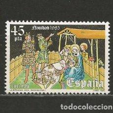 Sellos: ESPAÑA. Nº 2819(*). AÑO 1985. NAVIDAD. NUEVO SIN GOMA.. Lote 297035293