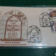 Sellos: NOIA ROJA NO CAMIÑO DE SANTIAGO 2000 MATASELLO. Lote 297057538