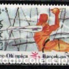 Sellos: EDIFIL Nº 2995, JUEGOS OLIMPICOS BARCELONA, II SERIE PREOLIMPICA, BALONMANO, USADO. Lote 297357343