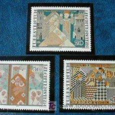 Sellos: LIECHTENSTEIN 1979 TAPICES DE FERDINAND NIGG, 3 SELLOS. Lote 4697186