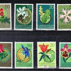 Sellos: LIECHTENSTEIN 469/76 CON CHARNELA, FLORES, . Lote 7933811