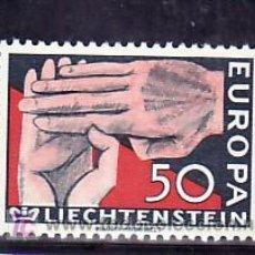 Sellos: LIECHTENSTEIN 366 SIN CHARNELA, TEMA EUROPA 1962. Lote 7933994