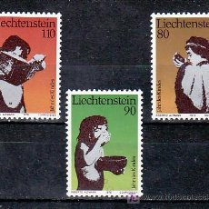Sellos: LIECHTENSTEIN 666/8 SIN CHARNELA, AÑO INTERNACIONAL DEL NIÑO,. Lote 7957506