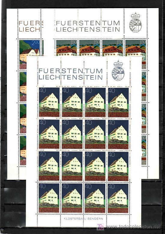 LIECHTENSTEIN 641/6 MINIPLIEGO(16) SIN CHARNELA, EDIFICIOS DE LIECHTENSTEIN, (Sellos - Extranjero - Europa - Liechtenstein)