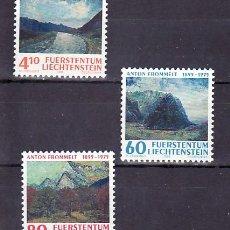 Sellos: LIECHTENSTEIN 1049/51 SIN CHARNELA, PINTURA, CENTENARIO NACIMIENTO ANTON FROMMELT, . Lote 11875495