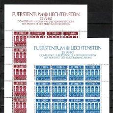 Sellos: LIECHTENSTEIN 778/9 MINIPLIEGO SIN CHARNELA, TEMA EUROPA 1984, 25º ANIVº CONFERENCIA EUROPEA. Lote 11305367
