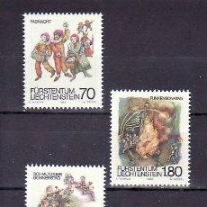 Sellos: LIECHTENSTEIN 759/61 SIN CHARNELA, CARNAVAL, CUARESMA, COSTUMBRES,. Lote 10564335