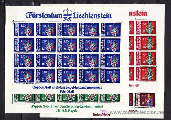 LIECHTENSTEIN 707/10 MINIPLIEGO(20) SIN CHARNELA, ESCUDOS DE ALCALDES (Sellos - Extranjero - Europa - Liechtenstein)