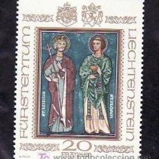 Sellos: LIECHTENSTEIN 675 SIN CHARNELA, RELIGION, SANTA LUCIA Y SAN FLORIAN, . Lote 12019328