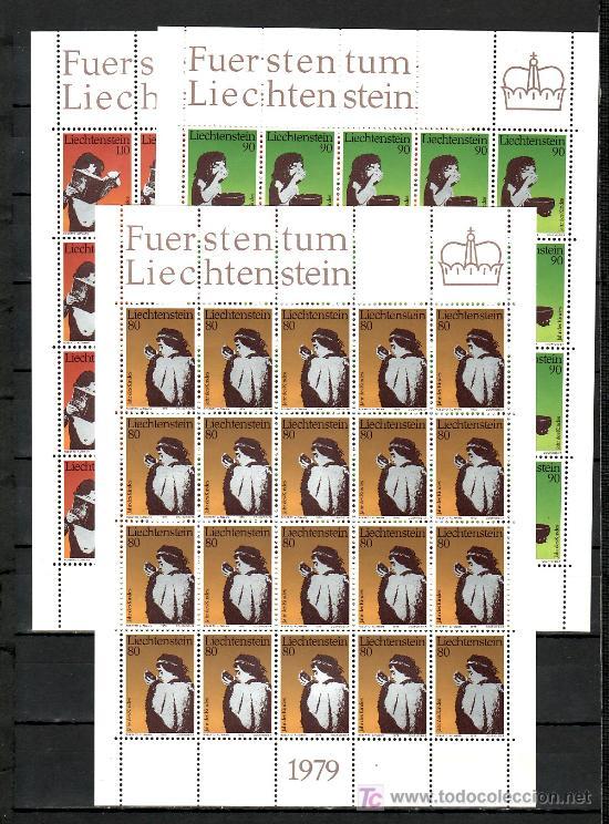 LIECHTENSTEIN 666/8 MINIPLIEGO SIN CHARNELA, AÑO INTERNACIONAL DEL NIÑO, (Sellos - Extranjero - Europa - Liechtenstein)
