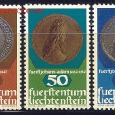 Sellos: LIECHTENSTEIN 1978 651/3 MONEDAS 3V . Lote 1904370