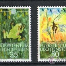 Sellos: LIECHTENSTEIN AÑO 1989 YV 908/11*** WWF - PROTECCIÓN DE LA NATURALEZA - FAUNA. Lote 33912877