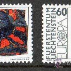 Sellos: LIECHTENSTEIN 1975 YV 566/67*** TEMA EUROPA - PINTURA Y ARTE MODERNO. Lote 33912864