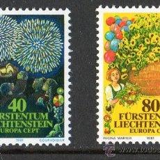 Sellos: LIECHTENSTEIN 1981 YV 705/06*** EUROPA - FIESTAS Y TRADICIONES POPULARES - FOLKLORE. Lote 10287133