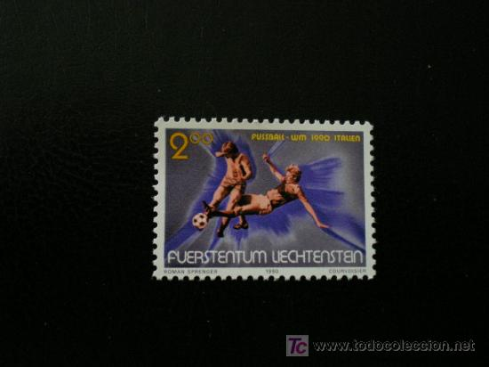LIECHTENSTEIN 1990 IVERT 928 *** ITALIA-90 - COPA DEL MUNDO DE FUTBOL - DEPORTES (Sellos - Extranjero - Europa - Liechtenstein)