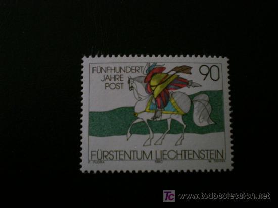 LIECHTENSTEIN 1990 IVERT 945 *** 500 ANIVERSARIO RELACIONES POSTALES EN EUROPA (Sellos - Extranjero - Europa - Liechtenstein)