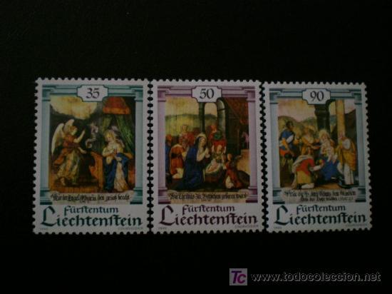 LIECHTENSTEIN 1990 IVERT 946/8 *** NAVIDAD - LA ANUNCIACIÓN - LA NATIVIDAD Y LA EPIFANIA (Sellos - Extranjero - Europa - Liechtenstein)