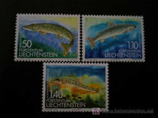 LIECHTENSTEIN 1989 IVERT 905/7 *** FAUNA - PECES DE AGUA DULCE (II) (Sellos - Extranjero - Europa - Liechtenstein)
