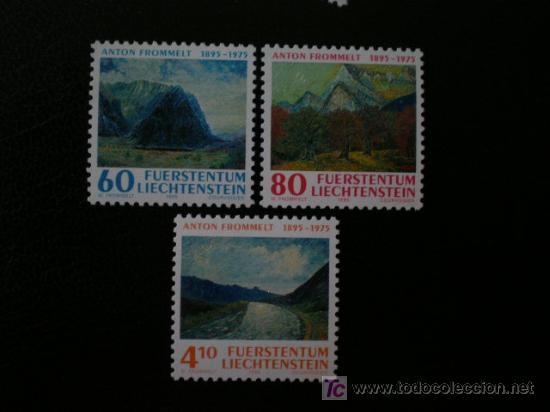 LIECHTENSTEIN 1995 IVERT 1049/51 *** CENTENARIO NACIMIENTO ANTON FROMMELT - PINTURA (Sellos - Extranjero - Europa - Liechtenstein)