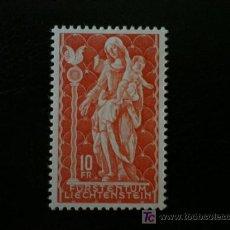 Sellos: LIECHTENSTEIN 1965 IVERT 397 *** VIRGEN - ESCULTURA SIGLO XVIII - RELIGIÓN. Lote 20393792