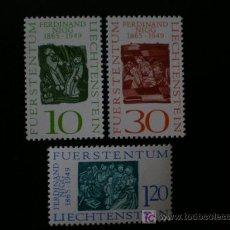 Sellos: LIECHTENSTEIN 1965 IVERT 405/7 *** CENTENARIO NACIMIENTO PINTOR FERDINAND NIGG - PINTURA. Lote 11295066