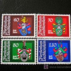Sellos: LIECHTENSTEIN 1981 IVERT 707/10 *** ESCUDOS DE LANDAMMANNS (II). Lote 11376299