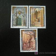 Sellos: LIECHTENSTEIN 1987 IVERT 866/8 *** PALACIO DE LIECHTENSTEIN EN VIENA - MONUMENTOS. Lote 11702901