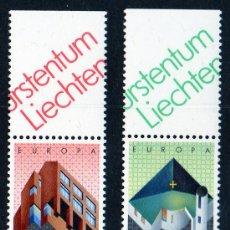 Sellos: LIECHTENSTEIN AÑO 1987 YV 859/60*** EUROPA - ARQUITECTURA MODERNA. Lote 12362379