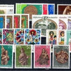Sellos: LIECHTENSTEIN AÑO 1977 COMPLETO YV 608/32***. Lote 27611348