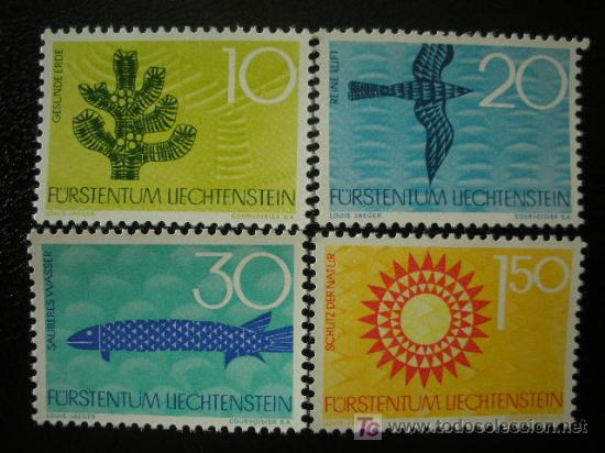 LIECHTENSTEIN 1966 IVERT 408/11 *** PROTECCION DE LA NATURALEZA (Sellos - Extranjero - Europa - Liechtenstein)