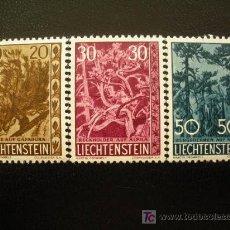 Sellos: LIECHTENSTEIN 1960 IVERT 356/8 *** ARBOLES Y ARBUSTOS (IV) - FLORA. Lote 20934778