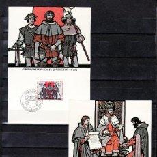 Sellos: LIECHTENSTEIN 732/3 TARJETA PRIMER DIA, TEMA EUROPA, HECHOS HISTORICOS, . Lote 22354267