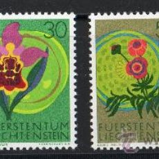 Sellos: LIECHTENSTEIN AÑO 1970 YV 469/72*** FLORA - FLORES - NATURALEZA. Lote 22672571