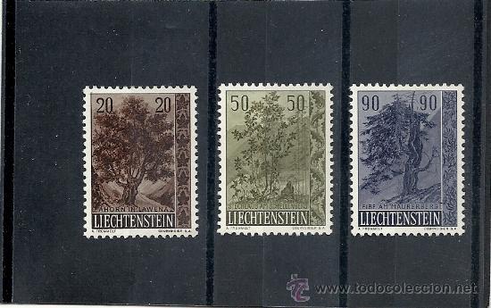 LIECHTENSTEIN 1958 ZUMSTEIN Nº 315/17* FIJASELLOS TEMA ARBOLES (Sellos - Extranjero - Europa - Liechtenstein)