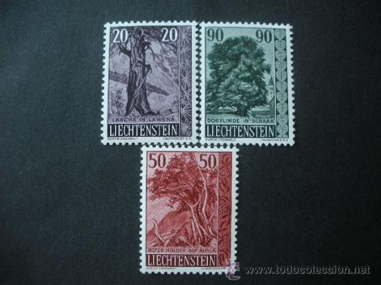 LIECHTENSTEIN 1959 IVERT 339/41 *** ARBOLES Y ARBUSTOS (III) - FLORA (Sellos - Extranjero - Europa - Liechtenstein)