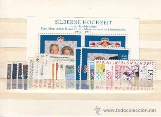 LIECHTENSTEIN 974/94, HB17 SIN CHARNELA, AÑO 1992 VALOR CAT 49.60 EUROS + (Sellos - Extranjero - Europa - Liechtenstein)