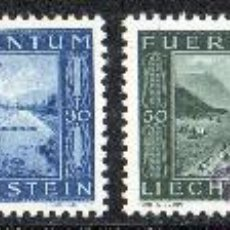 Sellos: LIECHTENSTEIN AÑO 1943 YV 197/98* CONSTRUCCIÓN DEL CANAL INTERIOR - ARQUITECTURA - AGRICULTURA. Lote 33598257