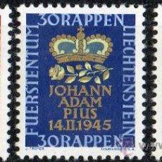 Sellos: LIECHTENSTEIN AÑO 1945 YV 197/98* NACIMIENTO DEL PRÍNCIPE JEAN-ADAM. Lote 33598291