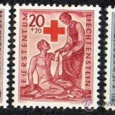 Sellos: LIECHTENSTEIN AÑO 1945 YV 219/21* EN BENEFICIO DE LA CRUZ ROJA - MEDICINA - SALUD - NIÑOS. Lote 33598305