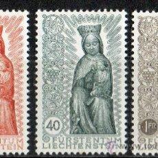 Sellos: LIECHTENSTEIN AÑO 1954 YV 291/93* CLAUSURA DEL AÑO MARIANO - RELIGIÓN - ESCULTURA - ARTESANÍA - ARTE. Lote 33598599