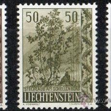 Sellos: LIECHTENSTEIN AÑO 1958 YV 333/35* ÁRBOLES Y ARBUSTOS (II SERIE) - FLORA. Lote 33598642