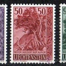 Sellos: LIECHTENSTEIN AÑO 1958 YV 339/41* ÁRBOLES Y ARBUSTOS (III SERIE) - FLORA. Lote 33598648