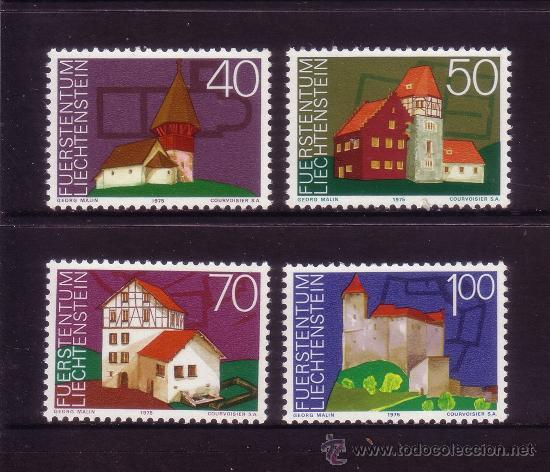 LIECHTENSTEIN 573/76*** - AÑO 1975 - AÑO EUROPEO DEL PATRIMONIO ARQUITECTÓNICO (Sellos - Extranjero - Europa - Liechtenstein)