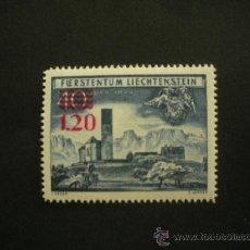 Sellos: LIECHTENSTEIN 1952 IVERT 271 *** MONUMENTOS - IGLESIA DE BENDERN - TIPO DE 1949 SOBRECARGADO. Lote 36771452